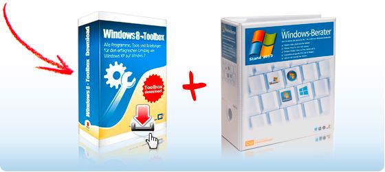 """Windows 8-Toolbox""-Download + Ausgabe ""Windows-Berater"""