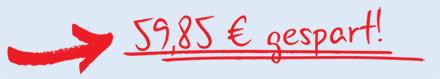 Pfeil: 59,85 € gespart!