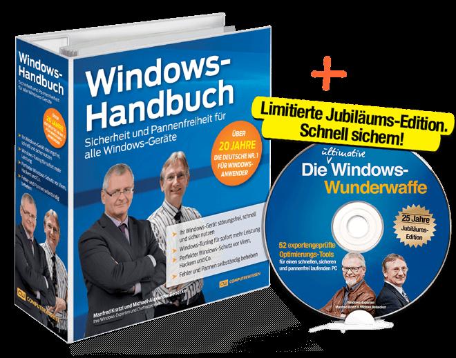 """Limitierte Jubiläums-Edition. Schnell sichern! DVD """"Die ultimative Windows-Wunderwaffe"""""""